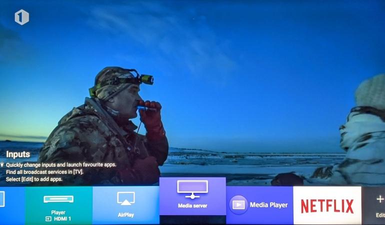 Sony KD55XH9505 menu