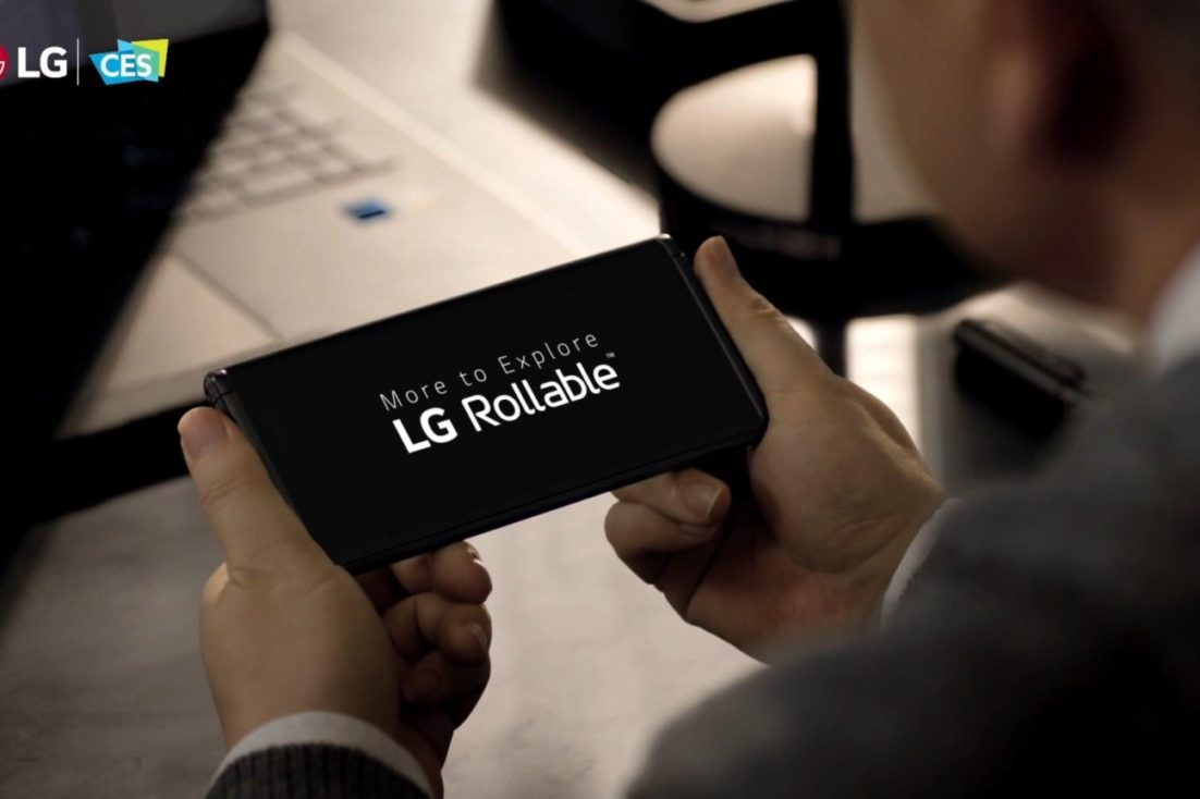LG unveils Rollable smartphone with sliding screen