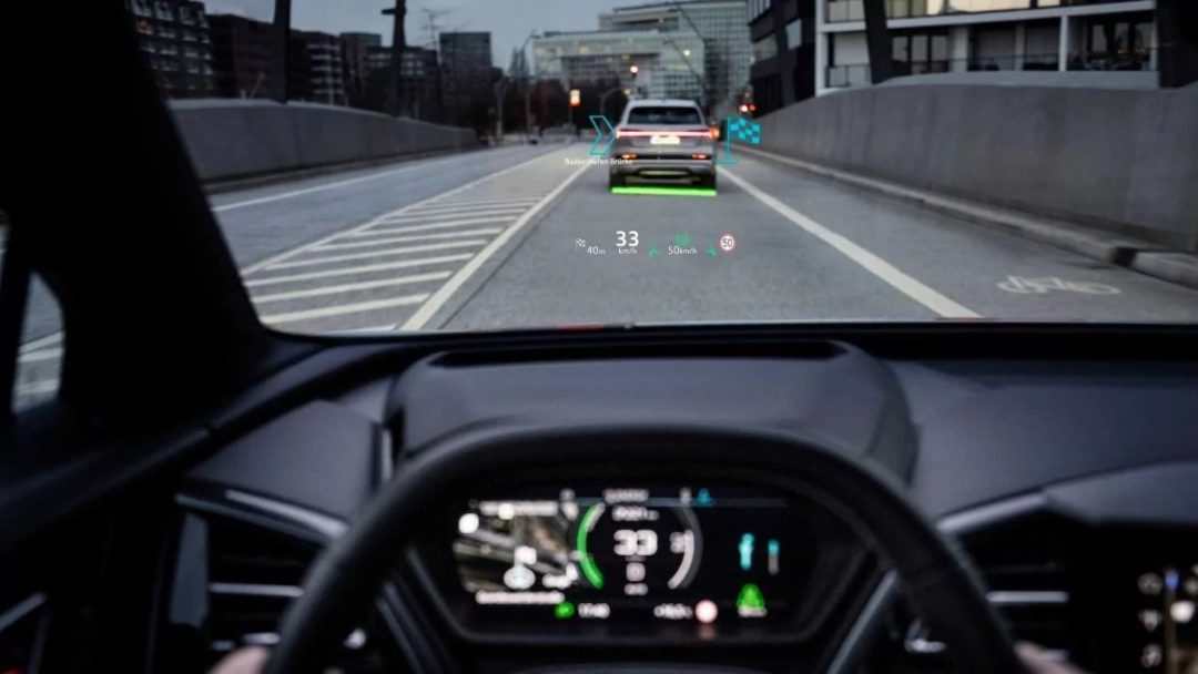 Audi reveals Q4 E Tron features before presentation stylish body and augmented reality