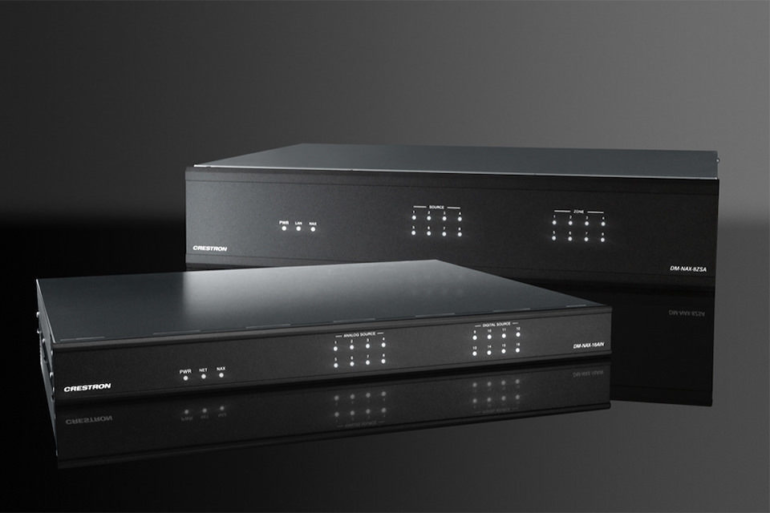 Crestron and Origin Acoustics Unveil Residential Speakers and DM Nax AoIP Series