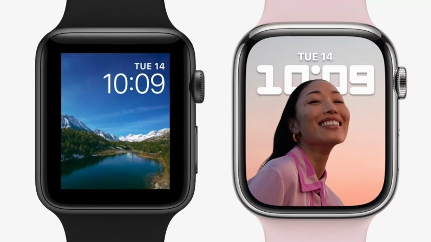APPLE UNVEILS WATCH 7 LARGE DISPLAY SLIM BODY AND WATCHOS 8