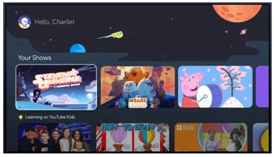 Children can have their own profile with Google TV