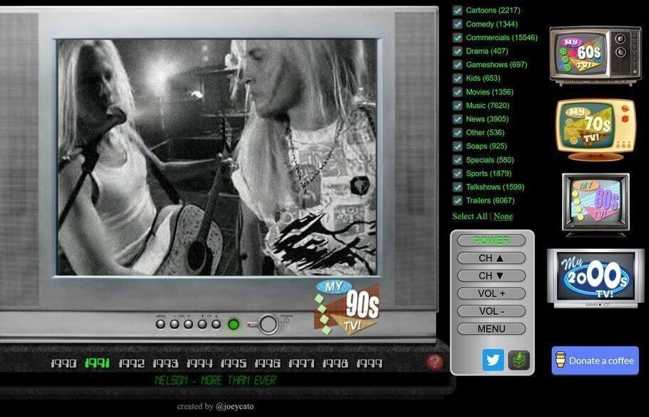 My Retro TVs interactive online TV emulators from different eras