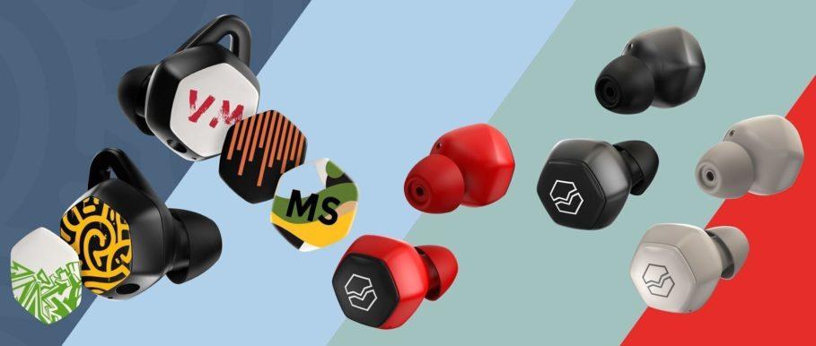 V Moda Hexamove TWS Headphones with Optional Neck Lanyard